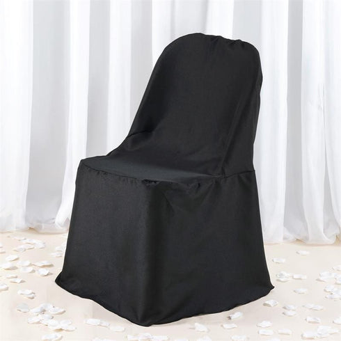 Premium Folding Chair Cover - Black