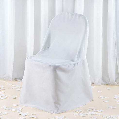 Premium Folding Chair Cover - White
