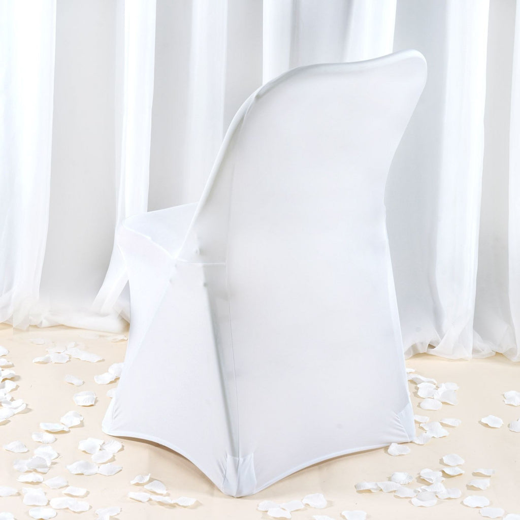 Premium Spandex Folding Chair Cover White