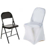 White Premium Spandex Folding Chair Covers[overlay]Fits over Folding Style Chairs