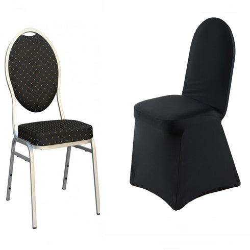 Premium Black Spandex Banquet Chair Covers