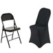 Black Premium Spandex Folding Chair Covers