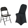 Black Premium Spandex Folding Chair Covers[overlay]Fits over Folding Style Chairs