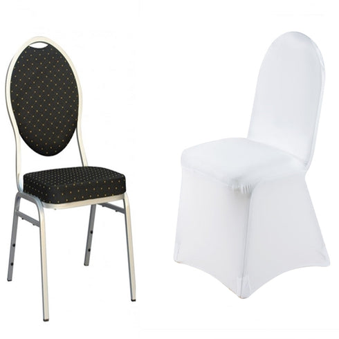 White Premium Spandex Banquet Chair Covers