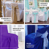 Ivory Polyester Banquet Chair Covers