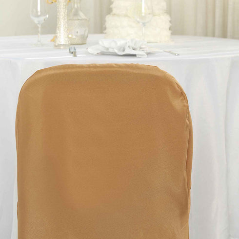 Gold Polyester Banquet Chair Covers