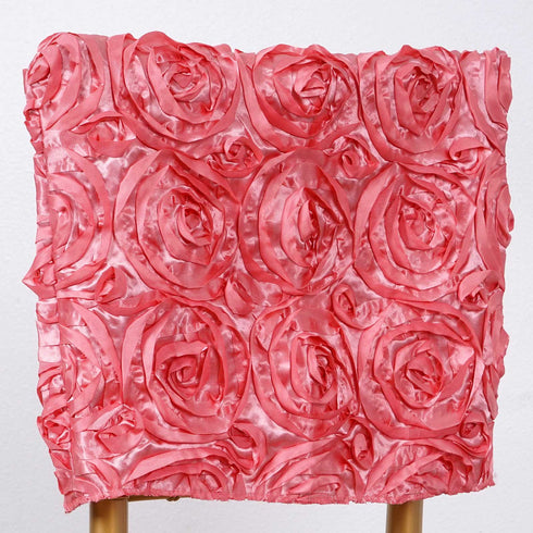 "16"" Rose Quartz Rosette Chiavari Chair Caps Cover"