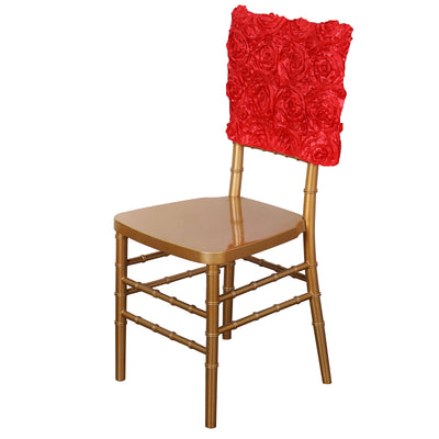"16"" Coral Rosette Chiavari Chair Caps Cover"