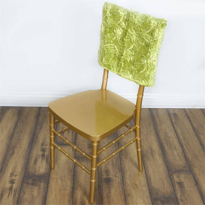 "16"" Apple Green Rosette Chiavari Chair Caps Cover"