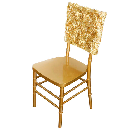 "16"" Champagne Rosette Chiavari Chair Caps Cover"