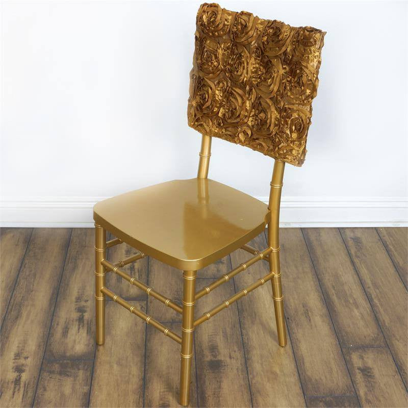 Wonderland Rosette Square-Top Chair Caps Gold