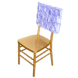 "16"" Lavender Rosette Chiavari Chair Caps Cover"
