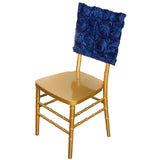 "16"" Navy Blue Rosette Chiavari Chair Caps Cover"