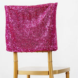 LUXURY COLLECTION Duchess Sequin Chair Caps - Fushia