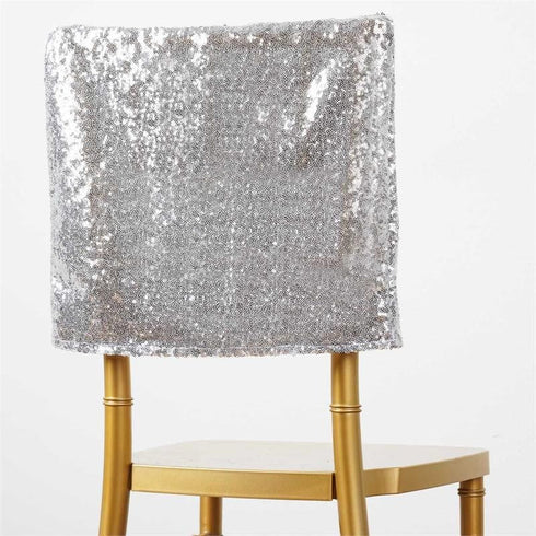 LUXURY COLLECTION Duchess Sequin Chair Caps - Silver