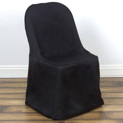 Black Folding Chair Cover-Flat
