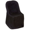 Black Polyester Folding Flat Chair Covers
