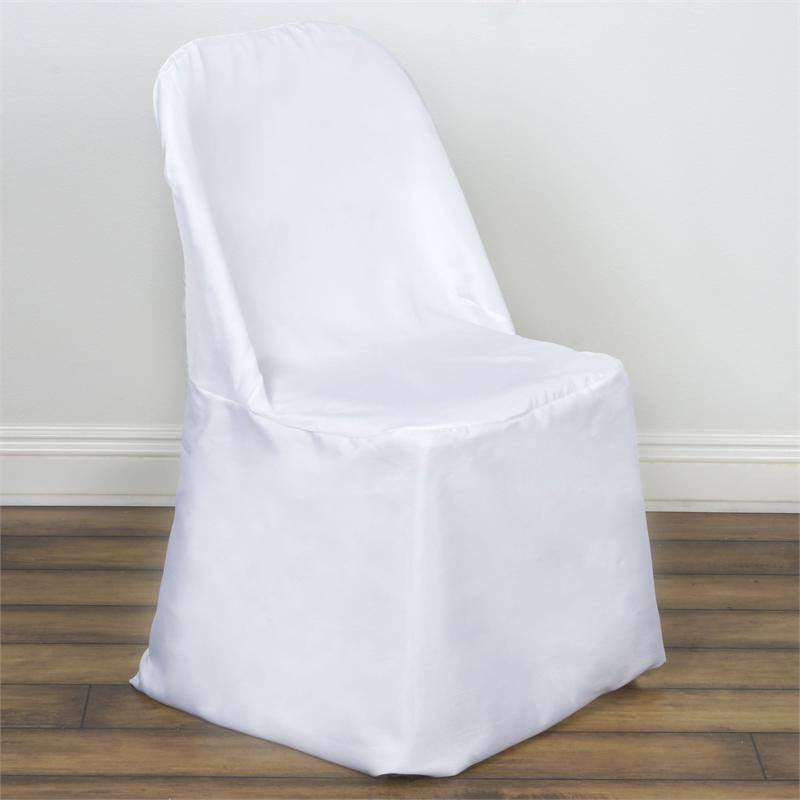 Delicieux ... White Folding Chair Cover Flat ...