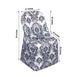 Black/White Velvet Damask Flocking Taffeta Chair Covers