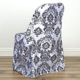 Black Flocking Folding Chair Cover