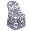 Black/White Velvet Flocking Taffeta Chair Covers