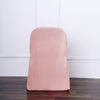 Dusty Rose Polyester Folding Round Chair Covers