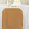 Gold Polyester Folding Round Chair Covers