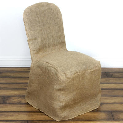 All Natural Jute Burlap Banquet Chair cover - Natural Color