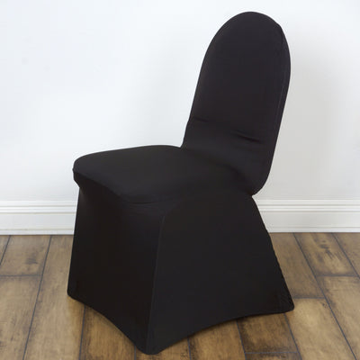 Black Milan Banquet Chair Covers