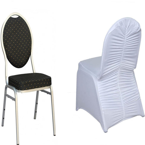 White Premium Milan Spandex Banquet Chair Covers