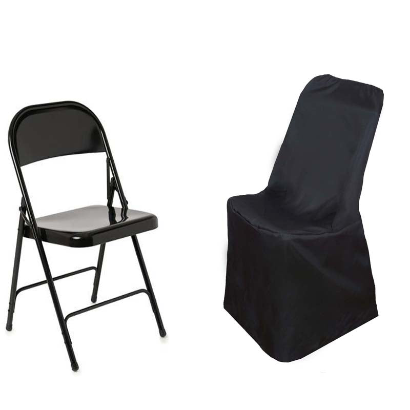 Outstanding Black Polyester Lifetime Folding Chair Covers Pdpeps Interior Chair Design Pdpepsorg