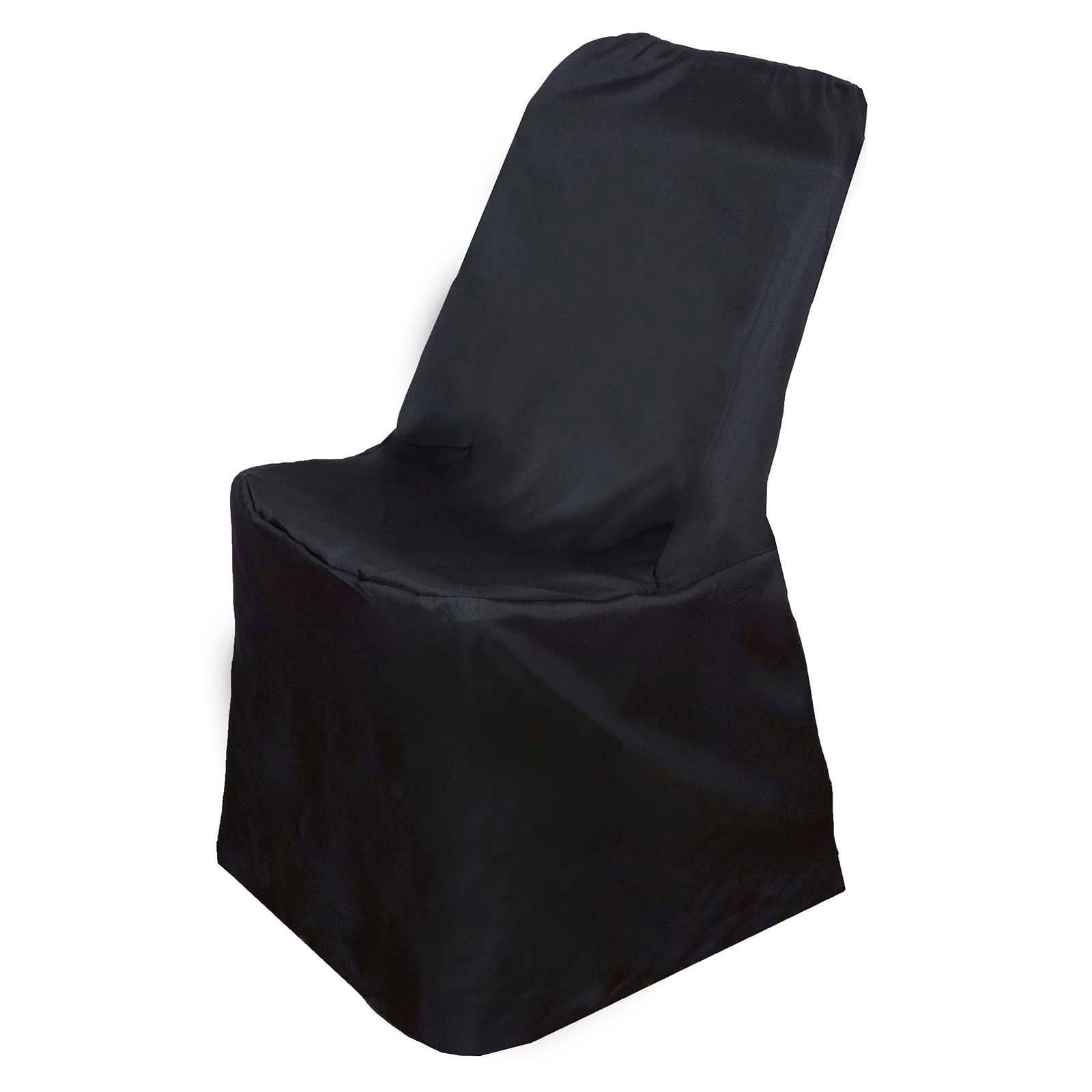 Polyester Lifetime Folding Chair Covers Black