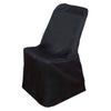 Polyester Lifetime Folding Chair Covers - Black