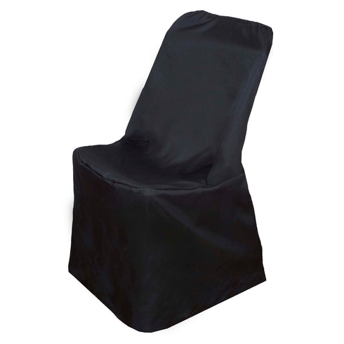 Polyester Lifetime Folding Chair Covers   Black ...