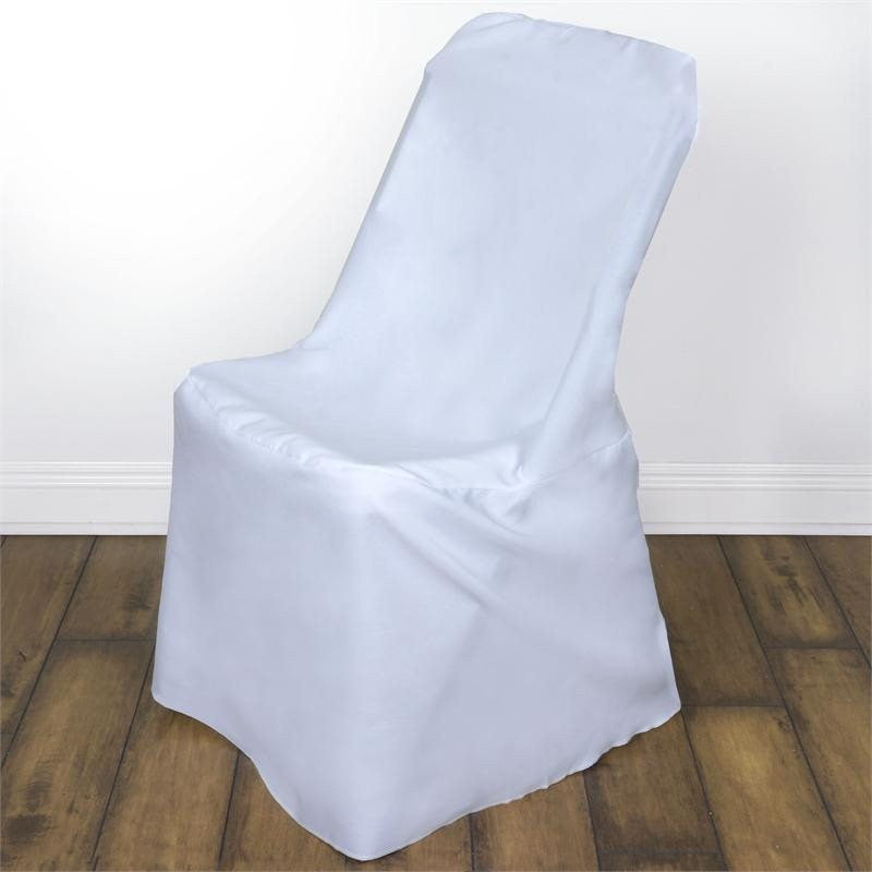 Polyester Lifetime Folding Chair Covers White Efavormart