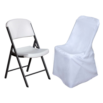White Polyester Lifetime Folding Chair Covers