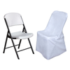 White Polyester Lifetime Folding Chair Covers[overlay]Fits over Lifetime Folding Style Chairs