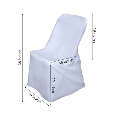 White Polyester Lifetime Folding Chair Covers Efavormart