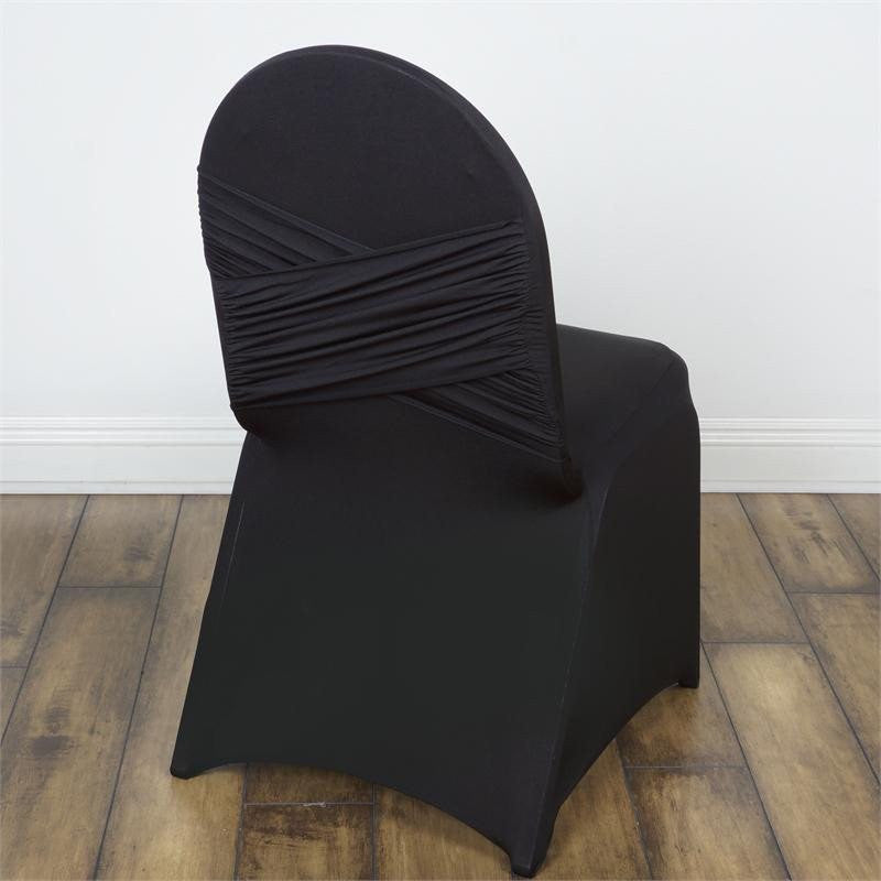 Black Madrid Banquet Chair Covers Efavormart