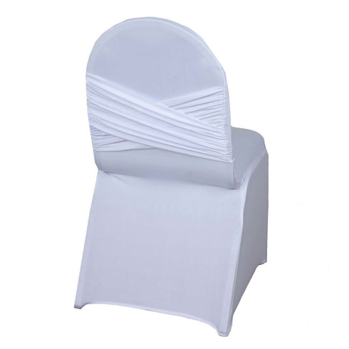 White Premium Madrid Spandex Banquet Chair Covers