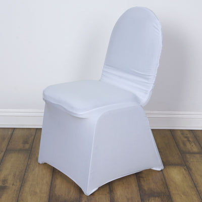 White Madrid Banquet Chair Covers