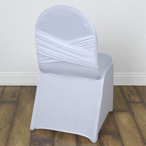 White Madrid Banquet Chair Covers ...   White Madrid Banquet Chair Covers  EFavorMart
