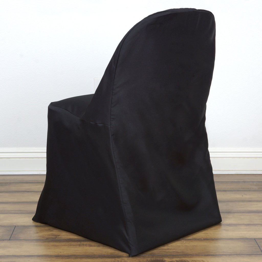 Folding chair covers wholesale under 1 -  Black Folding Chair Cover Round