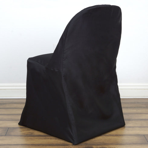 Black Folding Chair Cover-Round