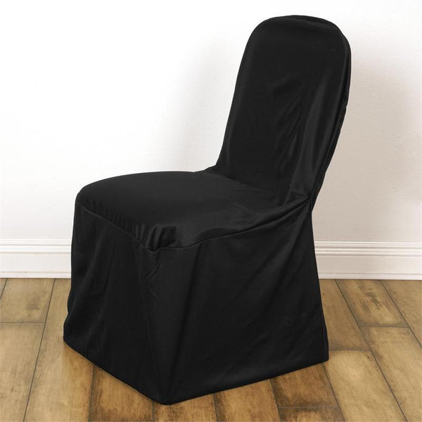 Black Stretch Scuba Chair Cover