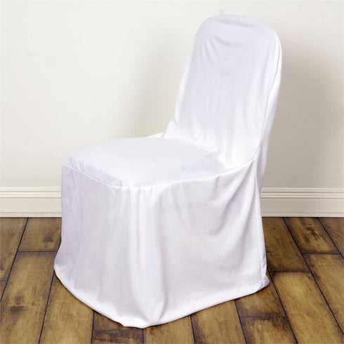 White Stretch Scuba Chair Cover