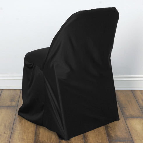 Black Chic-look Stretch Scuba for Folding Chair Cover