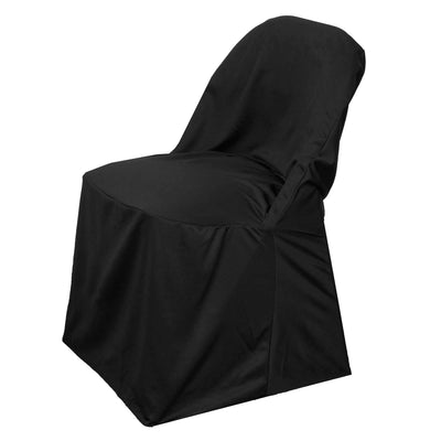 Premium Black Spandex Scuba Folding Chair Covers