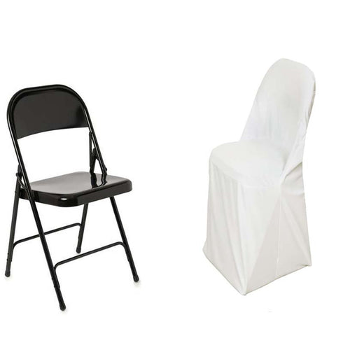 Ivory Premium Spandex Scuba Folding Chair Covers