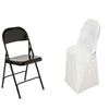 Ivory Premium Spandex Scuba Folding Chair Covers[overlay]Fits over Folding Style Chairs